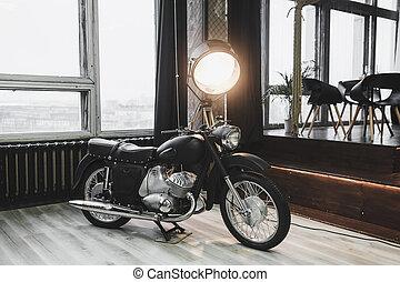 고전, 오토바이, retro