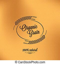 곡물, 배경, 유기체의, 디자인, 포도 수확