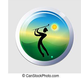 골프를 치는 사람, 사람, 아이콘
