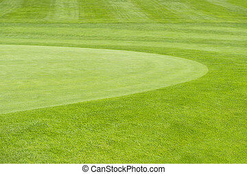 골프, course., 녹색의 배경, 들판