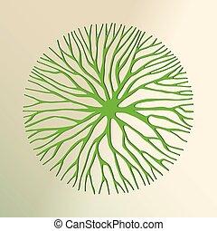 공급 절감, 나무, 환경, 개념, 녹색, 종이