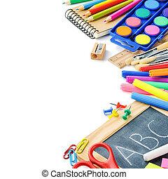 공급, 학교, 다채로운