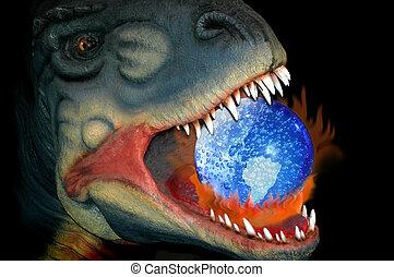 공룡, 지구 온난화, 길