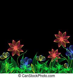 공상, 꽃