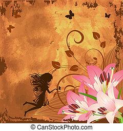 공상, 요정, 꽃
