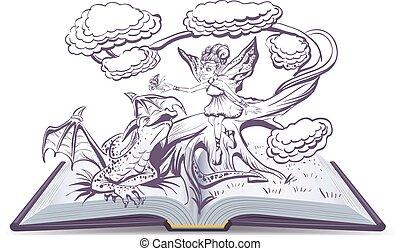 공상, 책, 열려라, 삽화