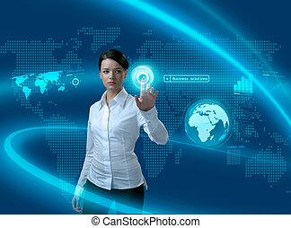 공용영역, 여자 실업가, 미래, 해결, 사업