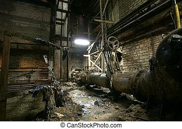 공장, 늙은, 자포자기한
