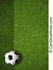 공, 정상, 들판, 배경, 축구, 보이는 상태
