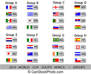 공, 컵, -, 아프리카, 그룹, 세계, 2010, 남쪽