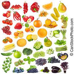 과일, 약초, 세트, 장과