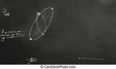 과학, scribbl, 수학, 칠판