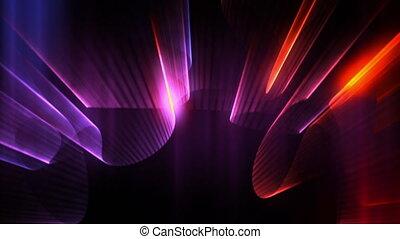 광선, 네온, 레이저, 쇼, 고리, 파랑, 플래시 빛, 백열, 빨강, 오로라, seamless