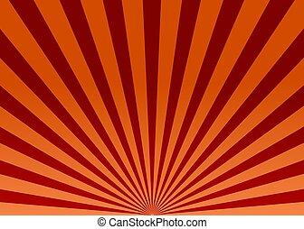 광선, 떼어내다, 벡터, 태양, 빨강