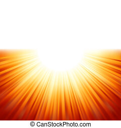 광선, eps, 햇빛, tenplate., 8, 구름 사이부터 날렵하게 쪼일 수 있는 일광