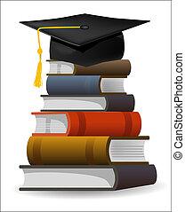 교과서, 모자, 눈금