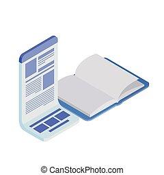 교과서, 열려라, 백색 배경