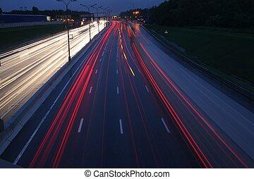 교통, 밤