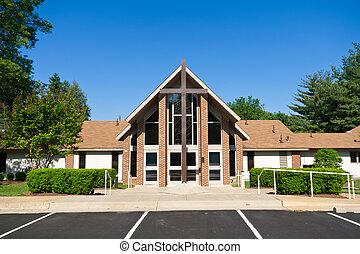 교회 십자가, 외부, 현대, 큰