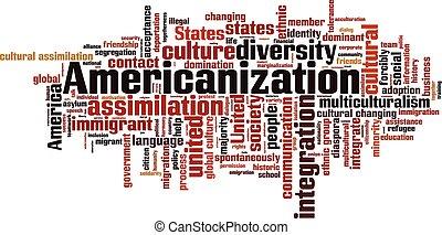 구름, 낱말, americanization