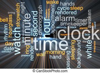 구름, 시계, 낱말, 백열하는 것