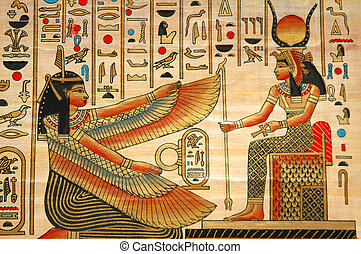 구식의, 성분, 역사, 파피루스, 이집트 사람