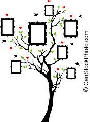 구조, 벡터, 나무, 가족