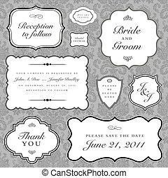 구조, 벡터, 세트, 결혼식