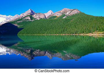 국립 공원, 호수, banff, louise