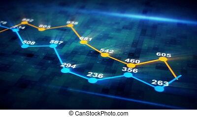 그래프, 도표, seamless, 생기, 미래다, 고리