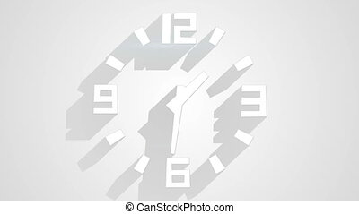 그림자, 시계, 벽, timelapse, 길게, 백색, 고리