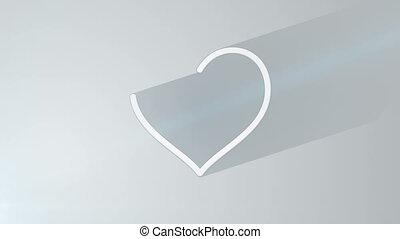 그림자, 심장, 최후, 길게, 모양, 10s, 고리
