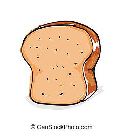 그어진, 손, bread