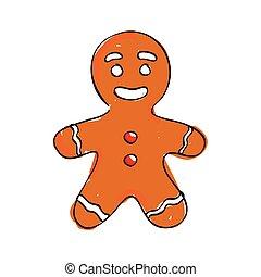 그어진, 쿠키, 크리스마스, 손