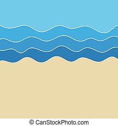 근해 대양, 바닷가, 파도