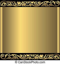 금색의 배경, 떼어내다, (vector)