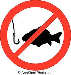 금지된다, 어업, 표시