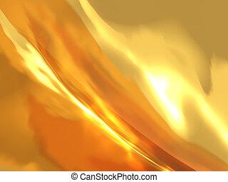 금, 불, 떼어내다, 효과, 백열하는 것, 배경