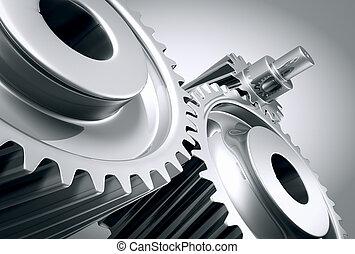 기계, 끝내다, gears., 위로의