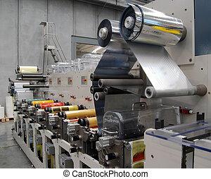 기계, 인쇄, flexo