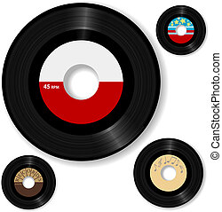 기록, 45 rpm, retro