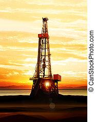 기름, 가스, 생산