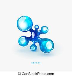 기술, 상징, 액체, 사업