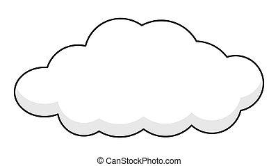 기치, retro, 구름