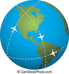 길, 위의, 비행, 지구, 지구
