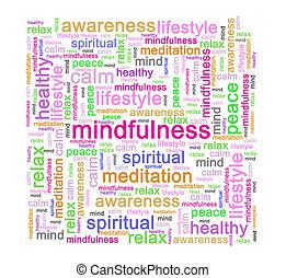 꼬리표, 낱말, mindfulness