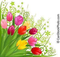 꽃다발, 꽃