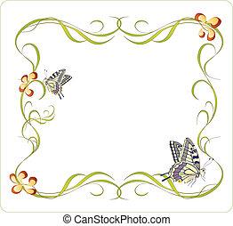 꽃의, 구조, 나비
