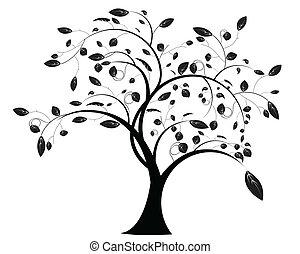 꽃의, 나무