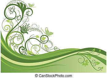 꽃의 디자인, 1, 경계, 녹색